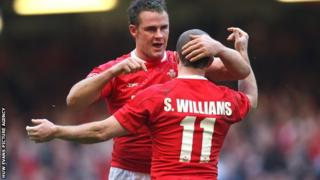 Lee Byrne and Shane Williams