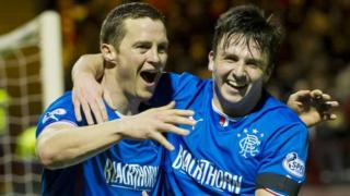 Jon Daly and Calum Gallagher celebrate
