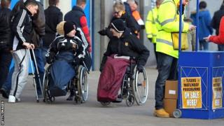 Disabled supporters at Hull's KC Stadium