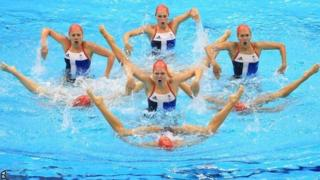 The GB synchronised swimming team