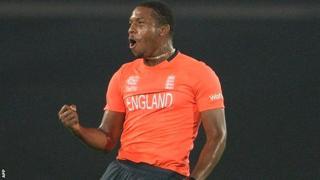 England bowler Chris Jordan.