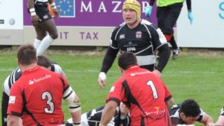 Ben Evans playing for Moseley v Jersey
