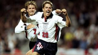 David Beckham and Michael Owen