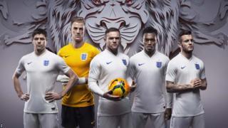 England 2014 World Cup home kit