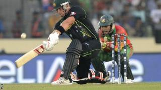 Australia opener Aaron Finch hits out against Bangladesh