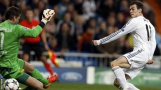 Gareth Bale scores for Real