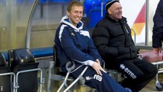 Foran at Motherwell match