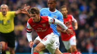 Arsenal midfielder Aaron Ramsey
