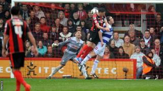 Bournemouth captain Tommy Elphick puts his team in front against QPR