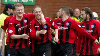 St Johnstone celebrate Anderson's goal