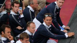 Andy Murray and the Great Britain team