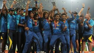 Sri Lanka celebrate winning World Twenty20