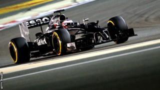 McLaren driver Jenson Button at the Bahrain Formula One Grand Prix.