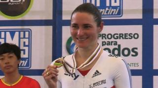 British Paralympic cyclist Dame Sarah Storey wins bronze in the C5 500m time trial at the Paracycling Track World Championships in Mexico.