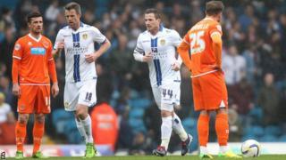 Leeds players celebrate