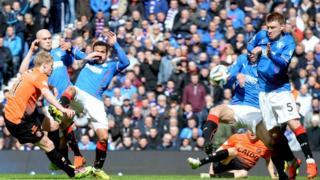 Gary Mackay-Steven scores for Dundee United against Rangers