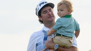 American Bubba Watson celebrates winning the 2014 Masters