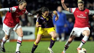 Reigning champions Arsenal Ladies vs Notts County
