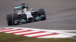 Mercedes' Lewis Hamilton set the pace in practice two in China