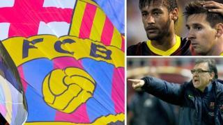 Barcelona, Neymar and Lionel Messi, Tata Martino