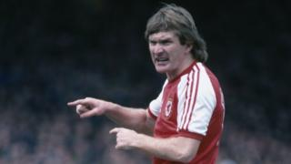 Leighton James in action for Wales in 1981
