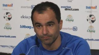 Everton manager Roberto Martinez says David Moyes will be back