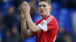 Southampton striker Sam Gallagher