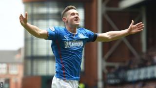 Fraser Aird celebrates his goal