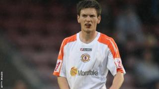 Matt Tootle in action for Crewe.