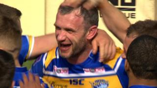 Super League leaders Leeds Rhinos beat St Helens 32-12 in the Challenge Cup fifth round at Headingley.