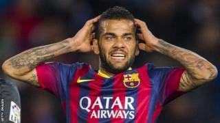 Barcelona defender Dani Alves
