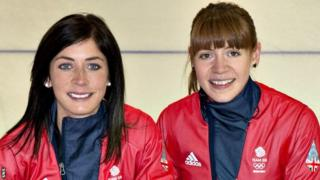 Eve Muirhead and Claire Hamilton