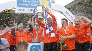 Glenavon lifted the Irish Cup for the first time since 1997