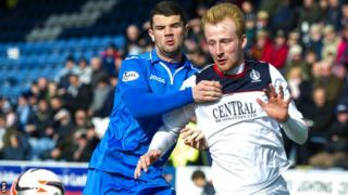 Queen of the South's Mark Durran and Falkirk's Mark Beck