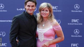 Roger Federer and his wife Mirka Federer