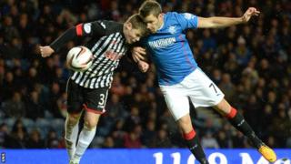 Andy Little in action against Dunfermline