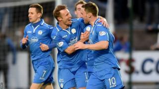 Queen of the South players celebrating