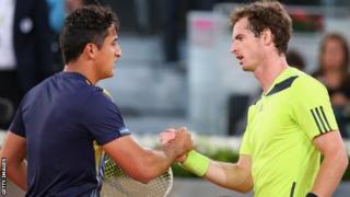 Nicolas Almagro and Andy Murray