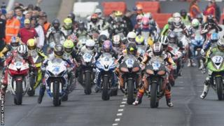 Mass start at the North West 200
