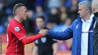 Craig Bellamy shakes Jose Mourinho's hand following Chelsea's 2-1 win at Cardiff