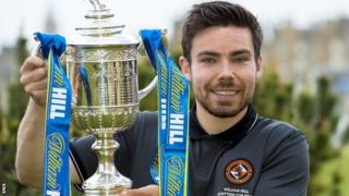 Ryan Dow with the Scottish Cup