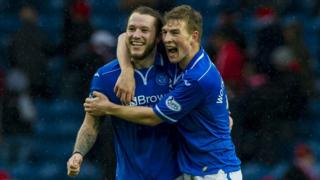 St Johnstone players Stevie May and David Wotherspoon