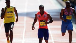 Blake falls short of Bolt record