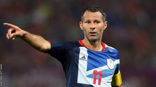 Ryan Giggs playing for Great Britain at the London Olympics