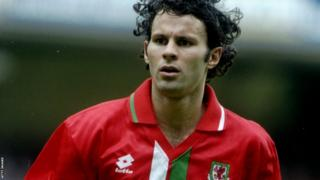 Ryan Giggs playing for Wales