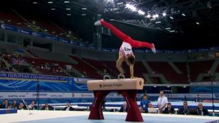 Great Britain's Max Whitlock wins gold in the pommel horse at the European Championships in Sofia, Bulgaria.