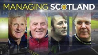 Gordon Strachan, Walter Smith, Tommy Docherty and Craig Brown