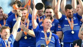 Leinster celebrate their Pro12 success