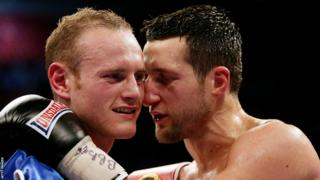 When the pair of fighters did manage to embrace, Carl Froch told George Groves he should be proud of his performance