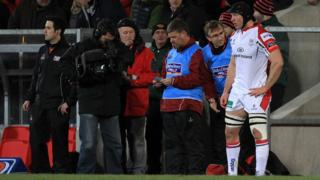 After a 16-month absence, Stephen Ferris returned to action for Ulster against the Scarlets at Ravenhill in March 2014